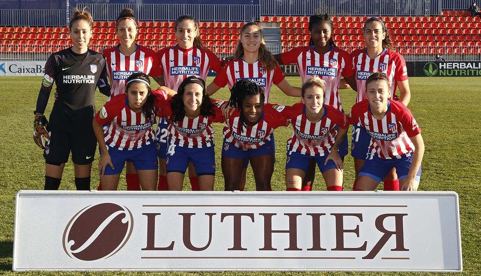 Temporada 18/19 | Atlético de Madrid Femenino - Espanyol | Once