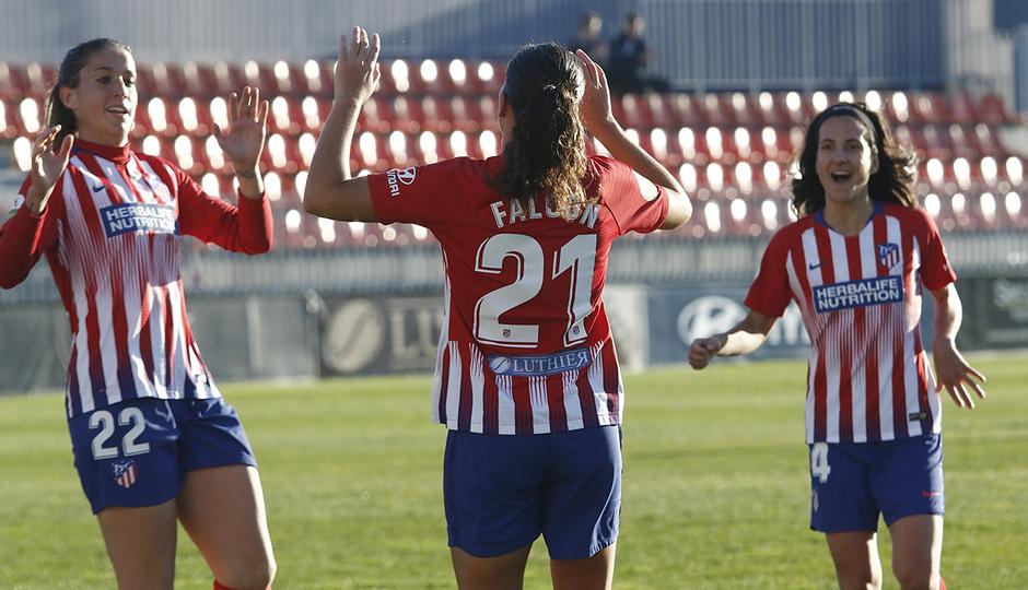 Temporada 18/19 | Atlético de Madrid Femenino - Espanyol | Falcón celebración