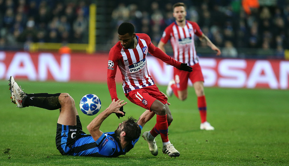Temporada 18/19 | Brujas - Atlético de Madrid | Lemar