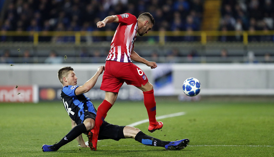 Temporada 18/19 | Brujas - Atlético de Madrid | Koke