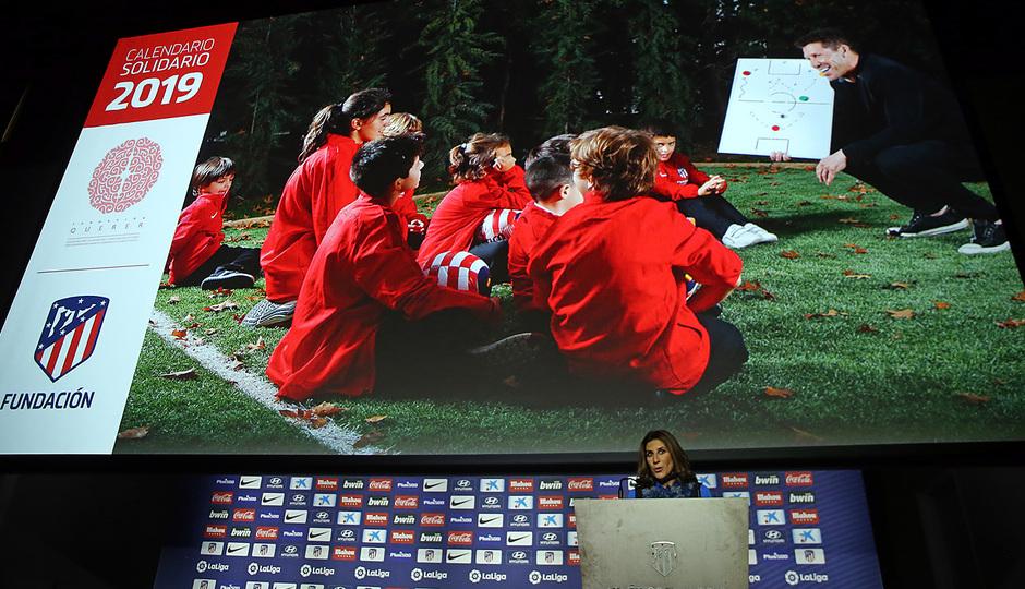 temporada 18/19. Acto presentación calendario solidario 2018. Pilar García de la Granja durante la presentación