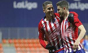 Temporada 18/19 | Atlético B - Pontevedra | Toni Moya y Rubén Fernández