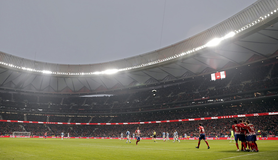 Temp. 18-19 | Atlético de Madrid - Espanyol | grupo celebración gol Griezmann