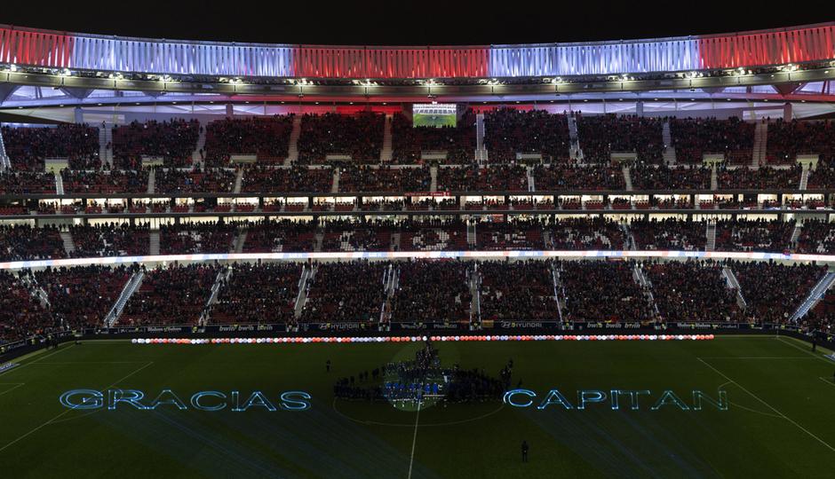 Temp. 2018-2019. Homenaje a Gabi en el Wanda Metropolitano. Fotos Engine