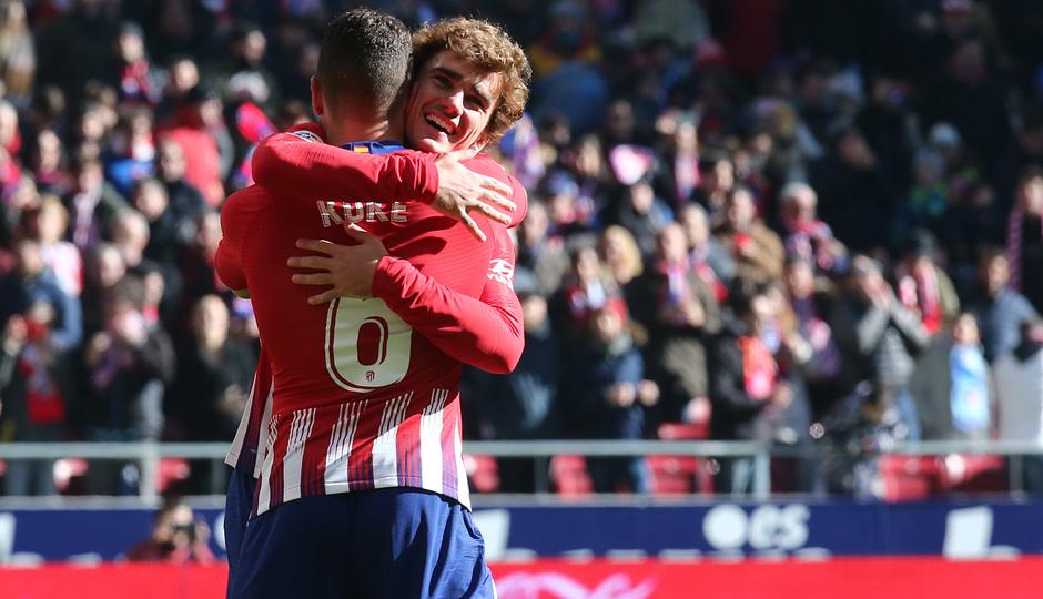 Temp. 18-19 | Atlético de Madrid - Levante |  Griezmman y Koke