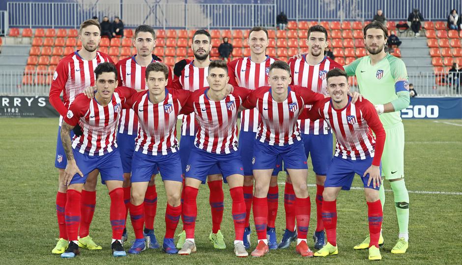 Temp. 18-19   Atlético de Madrid B - Unión Adarve   Once