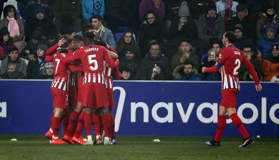 Temp. 18-19 | Huesca - Atlético de Madrid | piña celebración