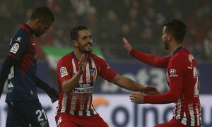 Temp. 18-19 | Huesca - Atlético de Madrid | Koke y Lucas