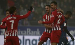 Temp. 18-19 | Huesca - Atlético de Madrid | celebración gol koke