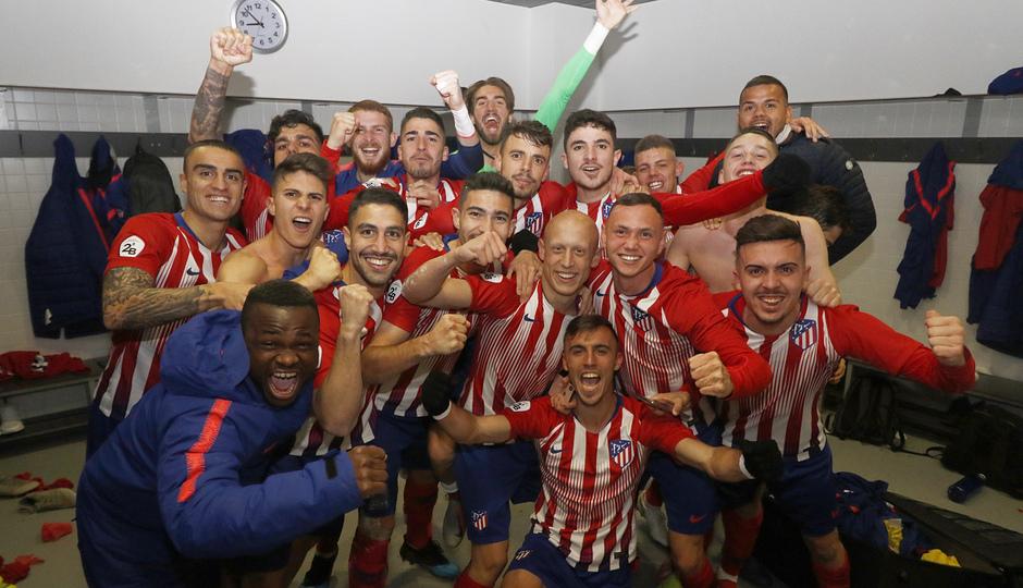 Temp. 18-19   Real Madrid Castilla - Atlético de Madrid   Vestuario