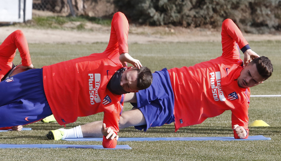 Temp. 18-19 | Entrenamiento primer equipo. Borja y Joaquín