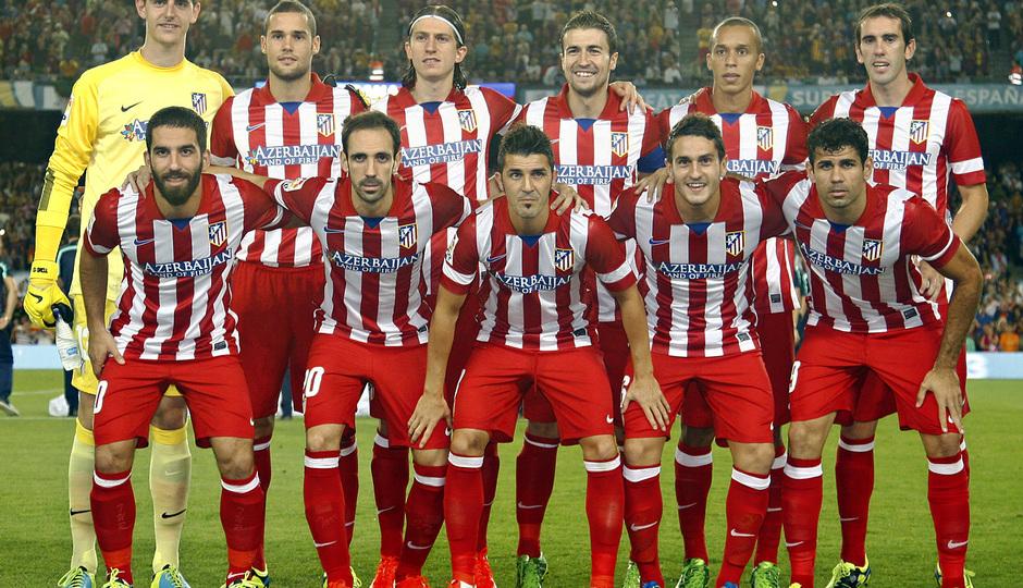 Temporada 2013/2014 FC Barcelona - Atlético de Madrid Once inicial en el partido de vuelta de la Supercopa de España