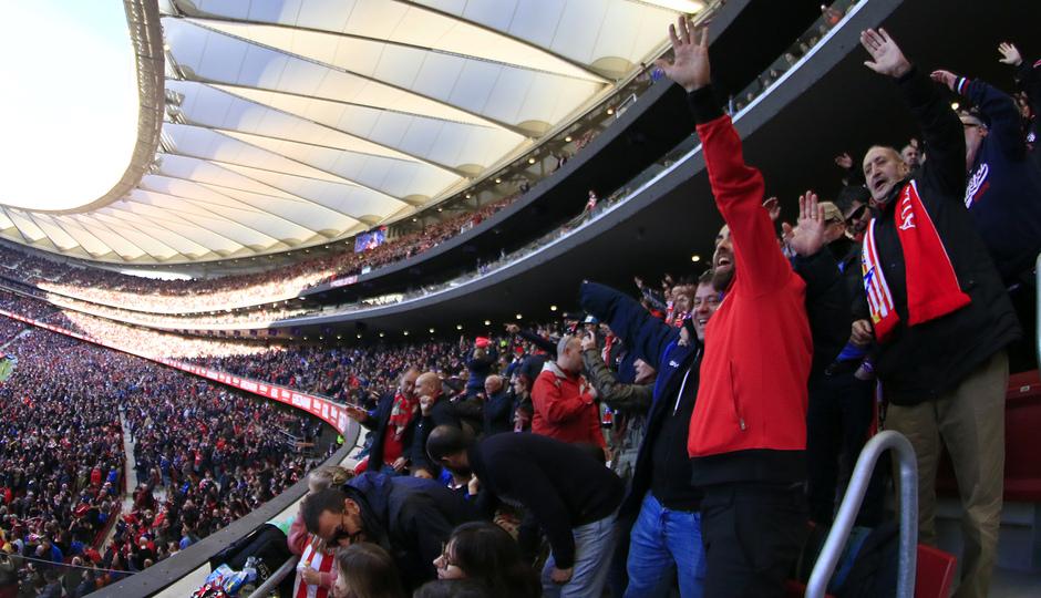 Temporada 18/19   Atlético de Madrid - Getafe   Wanda Metropolitano afición