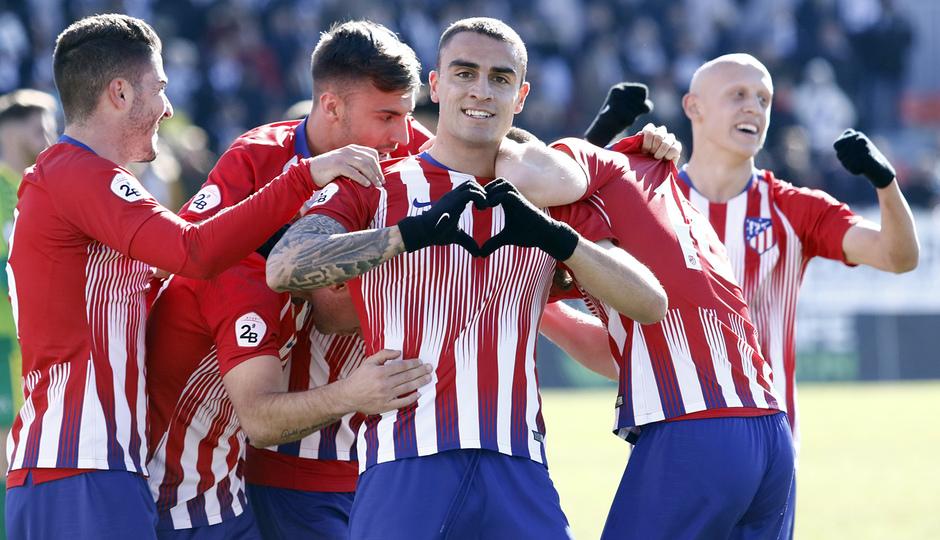 Temporada 18/19 | Atlético B - Unionistas | Celebración Carlos Isaac