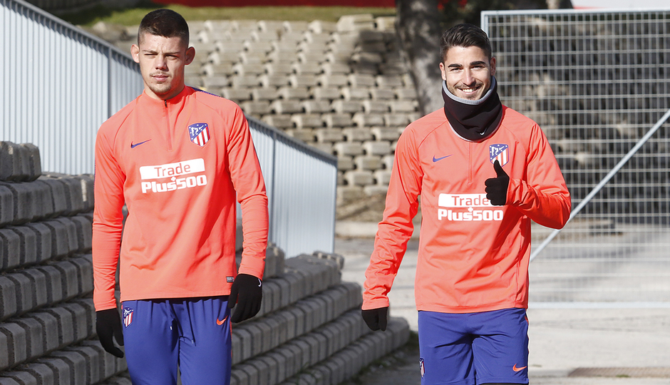 Temporada 18/19 | Entrenamiento del primer equipo | 31/01/2019 | Moya y Morata