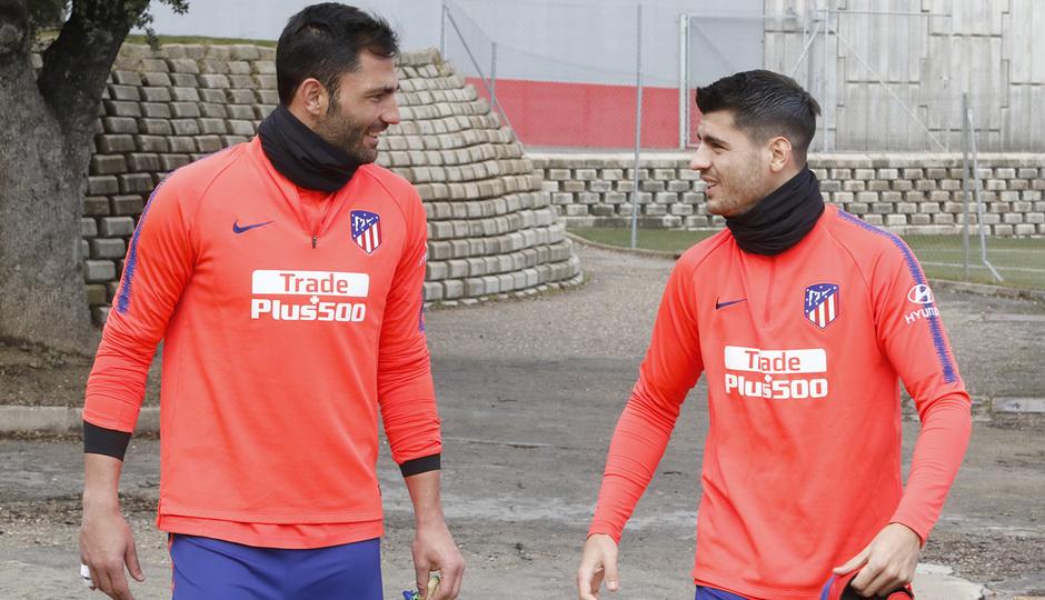 Temporada 18/19 | Entrenamiento | Adán y Morata
