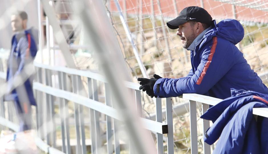 Temporada 18/19 | Entrenamiento del primer equipo | 04/02/2018 | Simeone