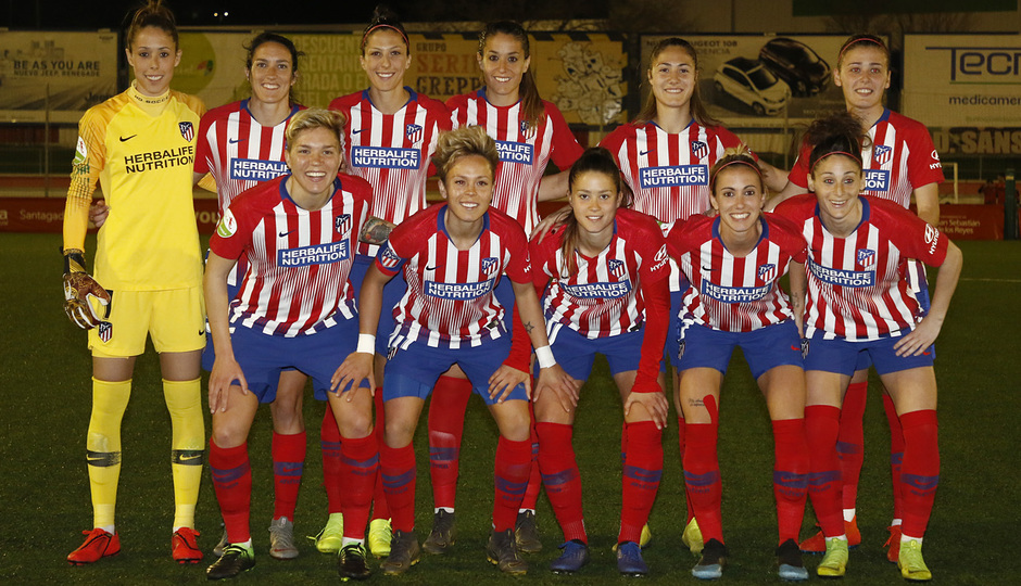 Temporada 18/19   Madrid CFF - Atlético de Madrid Femenino   Once
