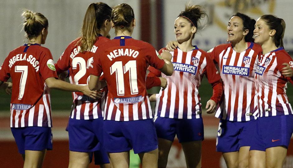 Temporada 18/19   Madrid CFF - Atlético de Madrid Femenino   Celebración
