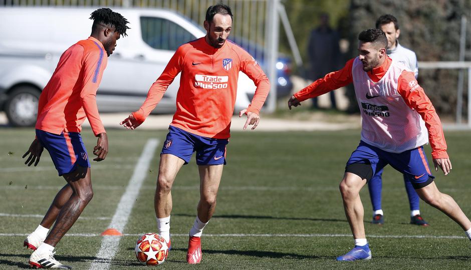 Temporada 18/19. Entrenamiento en la ciudad deportiva Wanda Atlético de Madrid. 17_02_2019. Juanfran.