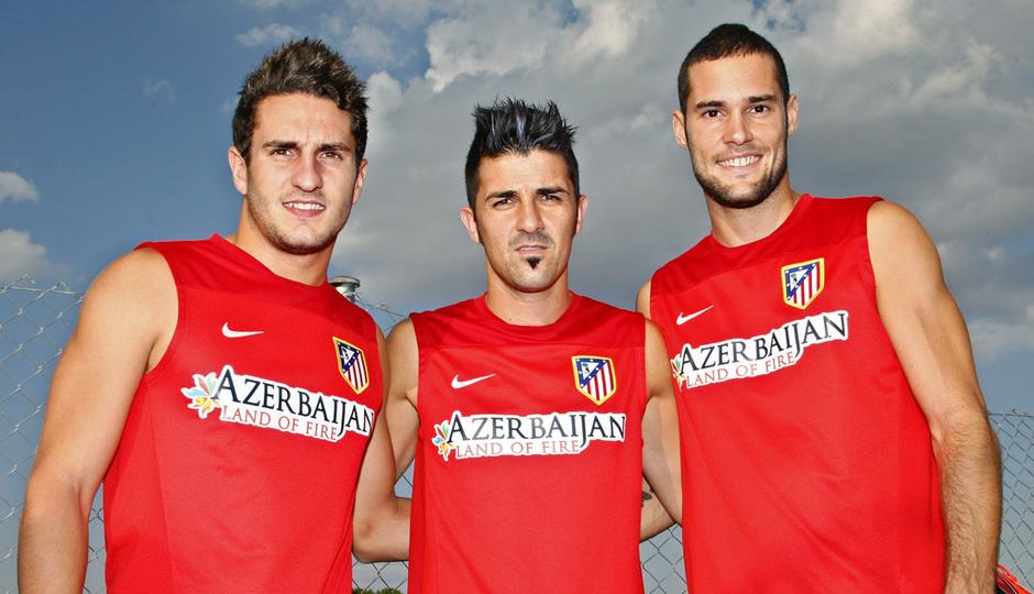 Koke, Mario Suárez y David Villa