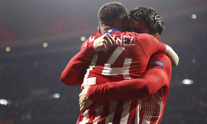 Temp. 18-19 | Atlético de Madrid - Juventus | Giménez y Morata celebración