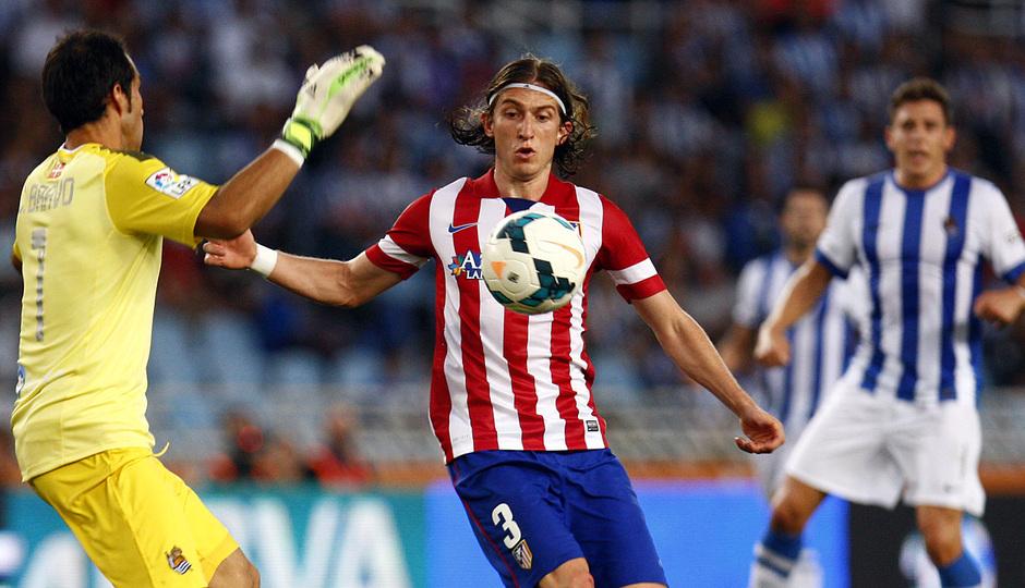 Temporada 2013/2014 Real Sociedad - Atlético de Madrid Filipe Luis