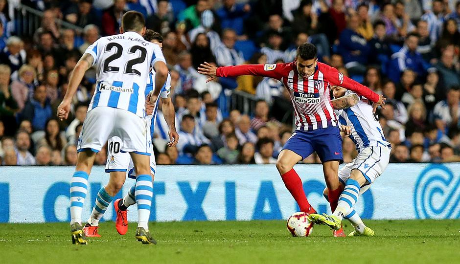 Temporada 18/19   Real Sociedad - Atlético de Madrid   Correa