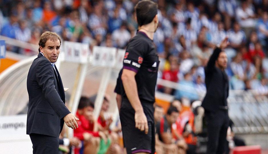 Temporada 2013/2014 Real Sociedad - Atlético de Madrid Arrasate durante el partido