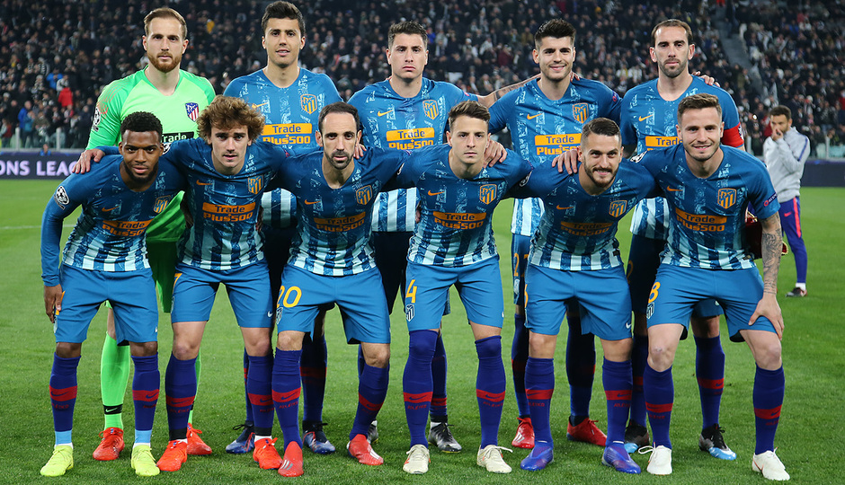 Temporada 18/19   Juventus - Atlético de Madrid   Once