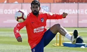 Temporada 18/19   Entrenamiento del primer equipo   13/03/2019   Diego Costa