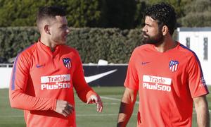 Temporada 18/19 | Entrenamiento del primer equipo | 25/03/2019 | Lucas y Diego Costa