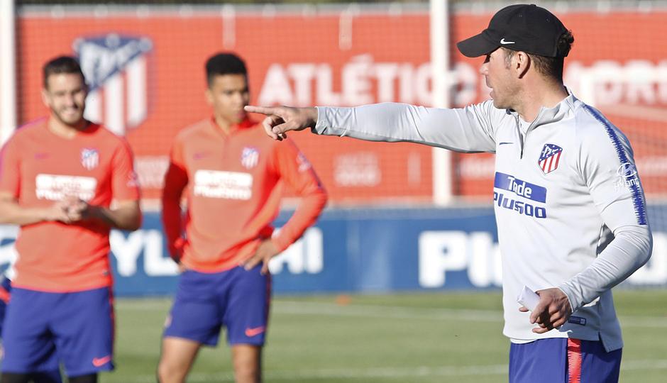 Temporada 18/19 | Entrenamiento del primer equipo | 25/03/2019 | Simeone