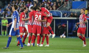 Temporada 18/19   Alavés - Atlético de Madrid   Celebración
