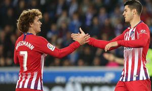 Temporada 18/19   Alavés - Atlético de Madrid   Morata y Griezmann