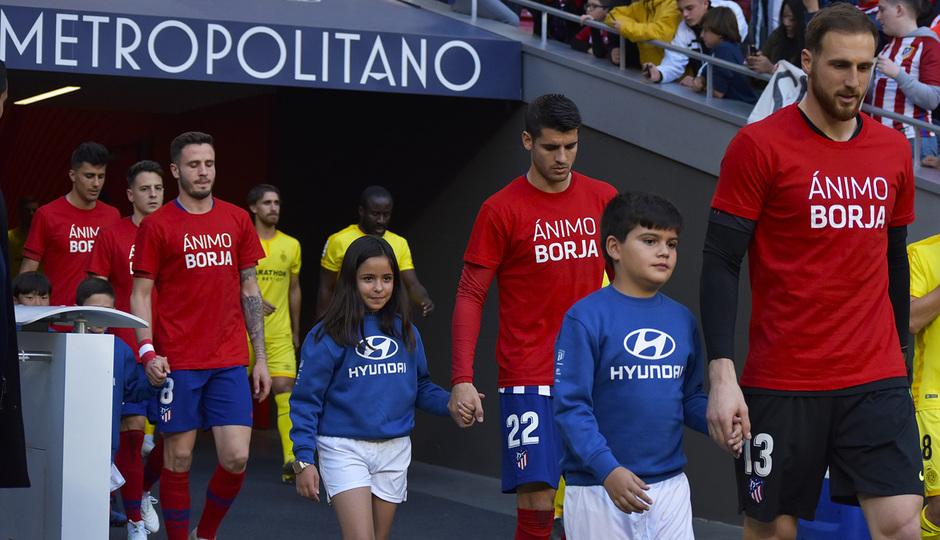 Temporada 18/19 | Atlético de Madrid - Girona | Jugadores Ánimo Borja