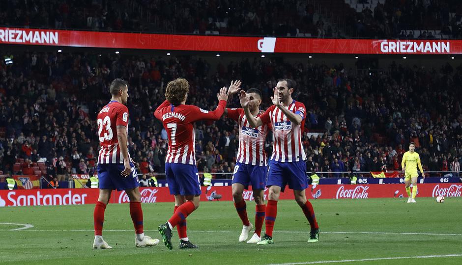 Temporada 18/19 | Atlético de Madrid - Girona | celebración Griezmann