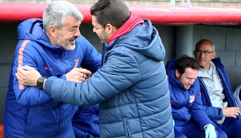 Temp. 18-19 | Atlético de Madrid B - UD Sanse | Óscar Fernández y Manolo Cano