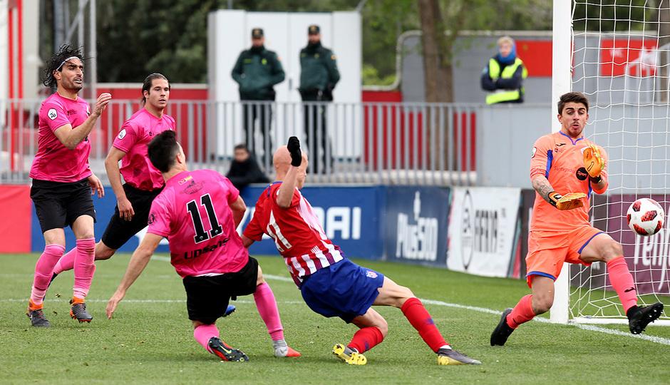 Temporada 18/19. Partido Atlético de Madrid B San Sebastián de los Reyes. Gol de Mollejo