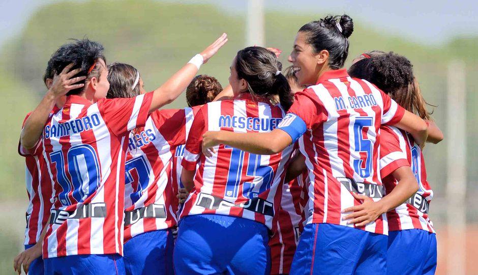 Temporada 2013-2014. Contundente victoria de las rojiblancas ante el Sevilla