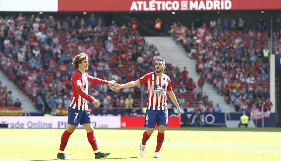 Temporada 18/19 | Atlético de Madrid - Valladolid | Griezmann y Koke