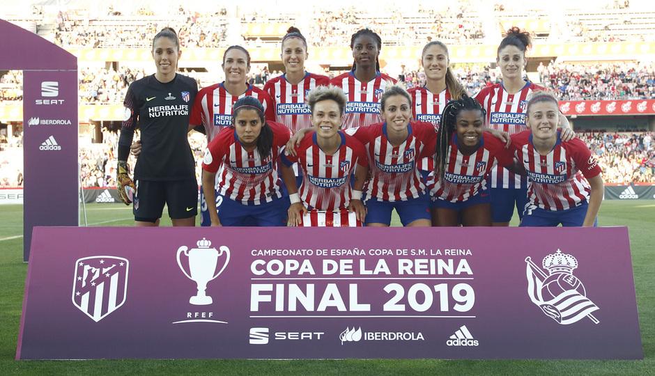 Temporada 18/19 | Atlético de Madrid - Real Sociedad | Final de la Copa de la Reina | Once inicial
