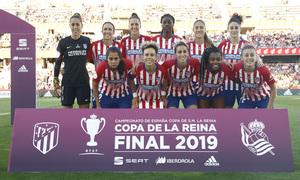 Temporada 18/19   Atlético de Madrid - Real Sociedad   Final de la Copa de la Reina   Once inicial