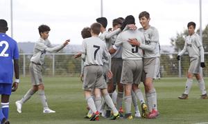 Wanda Football Cup   Leicester City - Juventus   Celebración Juventus