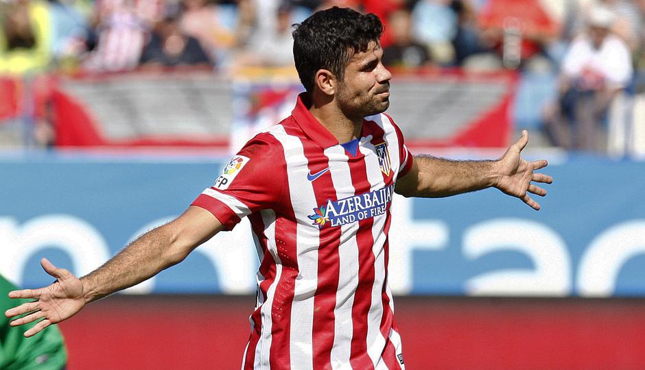 Temporada 2013/ 2014 Atlético de Madrid - Almería Diego Costa tras su gol