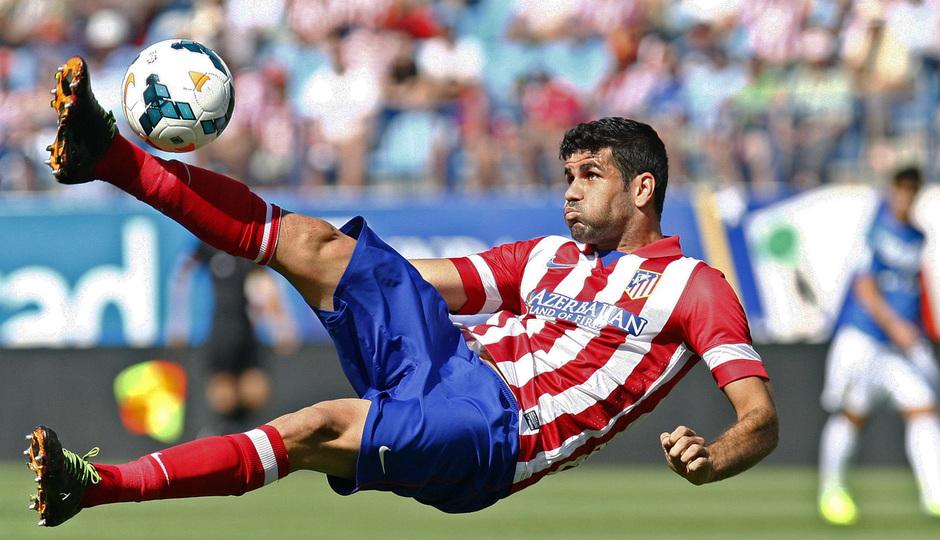 Temporada 2013/ 2014 Atlético de Madrid - Almería Diego Costa rematando