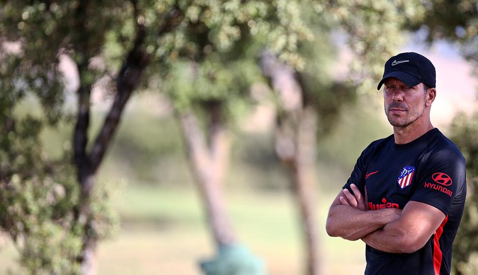 Temporada 19/20. Entrenamiento en los Ángeles de San Rafael. Simeone durante el entrenamiento