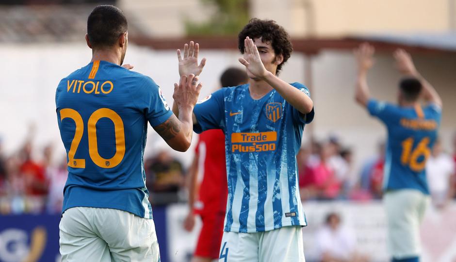 Temporada 19/20 | CD Numancia - Atlético de Madrid | Celebración Vitolo y Camello