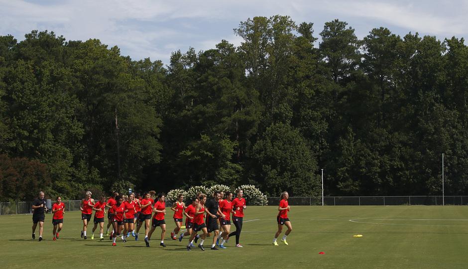 Temporada 19/20 | Entrenamiento del Atlético Femenino en Raleigh |