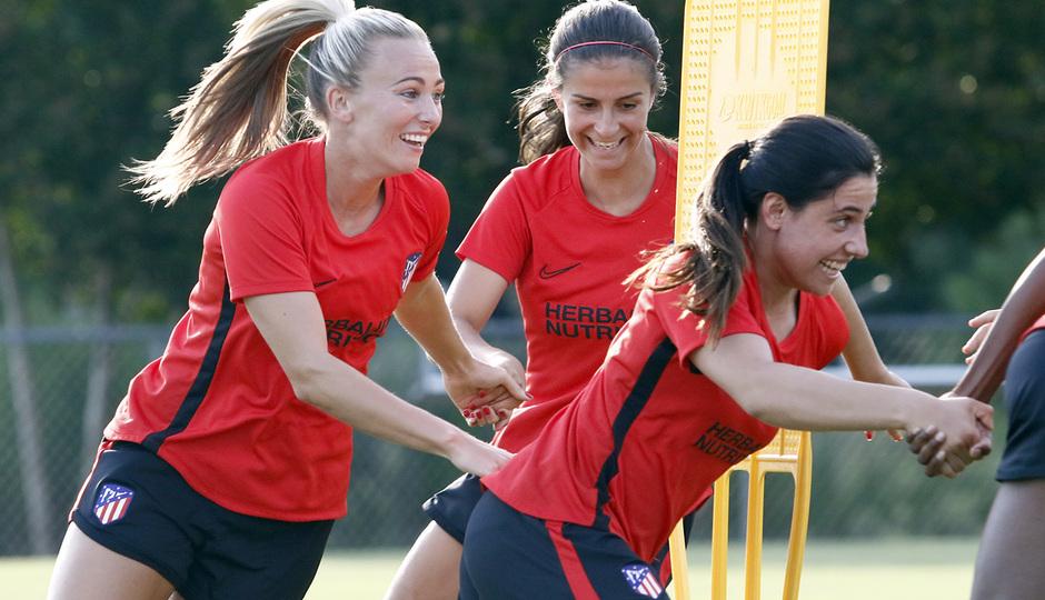Temporada 19/20 | Entrenamiento del Atlético Femenino en Raleigh | Duggan y Chidiac